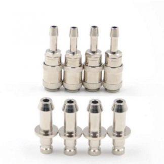 4sets NIBP Air Hose Aadpt Cuff Connector BP12 BP15 Airway Metal Joints-0